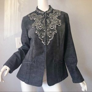 Chico's Embroidered Jean Jacket 2
